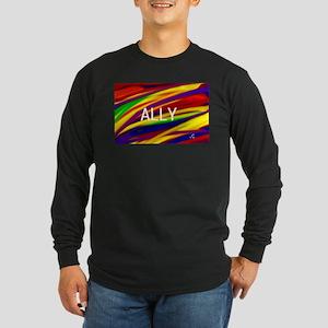 ALLY Gay Rainbow Art Long Sleeve T-Shirt