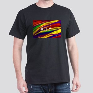 ALLY Gay Rainbow Art T-Shirt