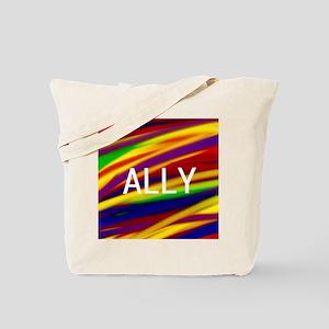 ALLY Gay Rainbow Art Tote Bag