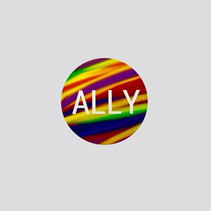 ALLY Gay Rainbow Art Mini Button