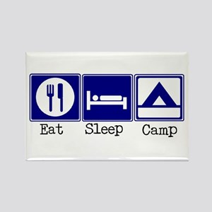 Eat, Sleep, Camp-Tent Rectangle Magnet