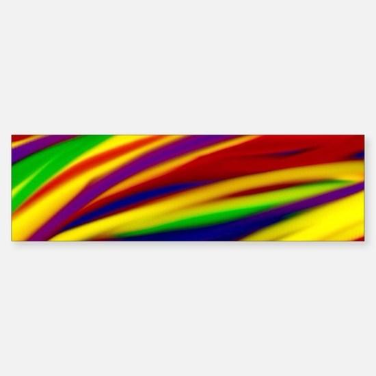 Gay Rainbow Art Bumper Bumper Bumper Sticker