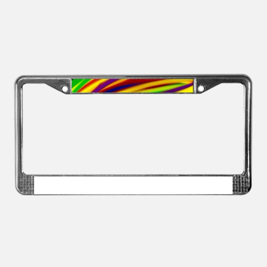 Gay Rainbow Art License Plate Frame