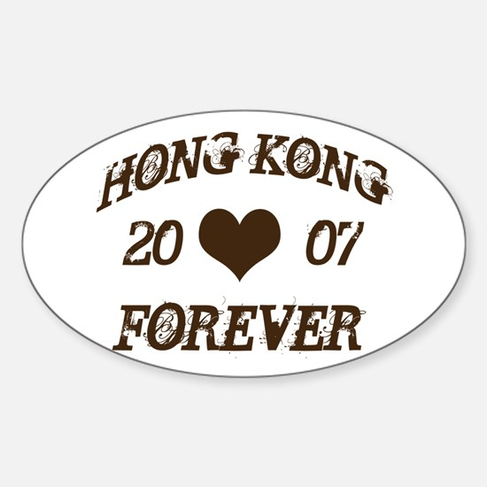 Hong Kong Forever Oval Decal