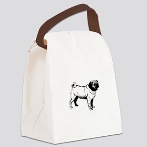 Pug Canvas Lunch Bag