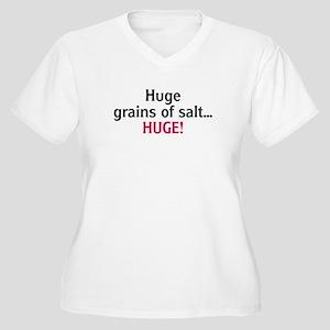 Huge Grains of Salt Women's Plus Size V-Neck T-Shi