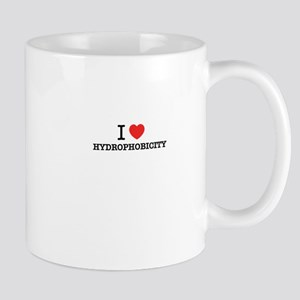 I Love HYDROPHOBICITY Mugs