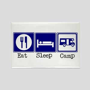 Eat, Sleep, Camp (RV style) Rectangle Magnet