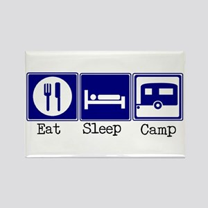 Eat, Sleep, Camp (Travel Trai Rectangle Magnet