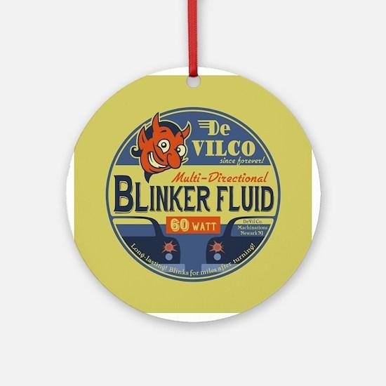 DeVilco Blinker Fluid Round Ornament