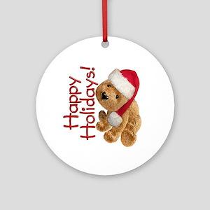 Holiday Bear Ornament (Round)