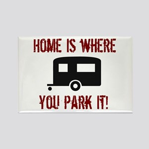 Home (Travel Trailer) Rectangle Magnet