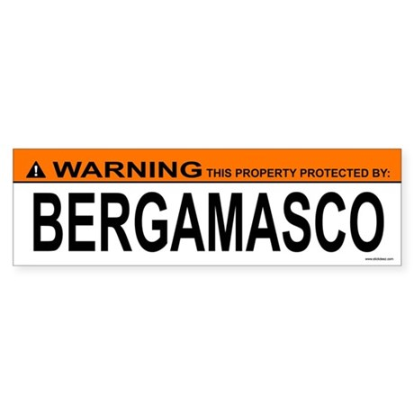 BERGAMASCO Bumper Sticker