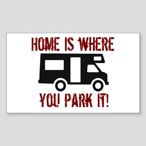 Home (RV) Rectangle Sticker