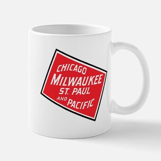 Badge of Chicago, Milwaukee, St.Paul & Pacifi Mugs