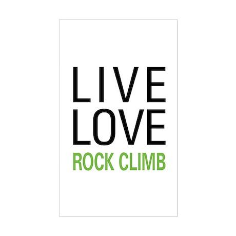 Live Love Rock Climb Rectangle Sticker