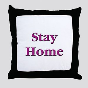 Stay Home Euchre Throw Pillow