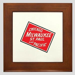 Badge of Chicago, Milwaukee, St.Paul & Framed Tile
