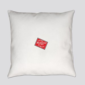 Badge of Chicago, Milwaukee, St.Pa Everyday Pillow