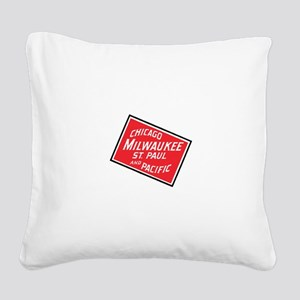 Badge of Chicago, Milwaukee, Square Canvas Pillow