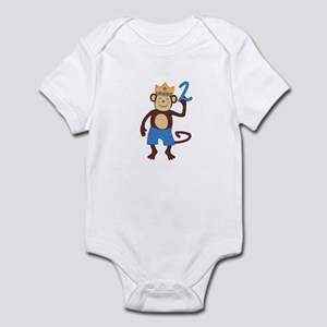 2nd Birthday Monkey Boy Infant Bodysuit