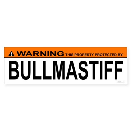 BULLMASTIFF Bumper Sticker