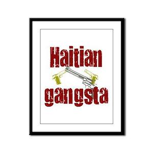Haitian gangsta Framed Panel Print