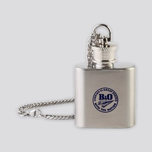 B&O Railroad Logo Flask Necklace
