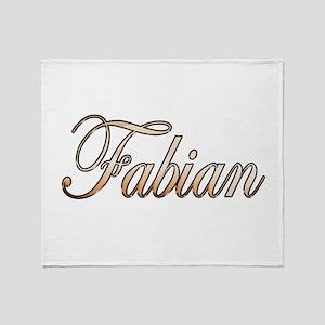 Gold Fabian Throw Blanket