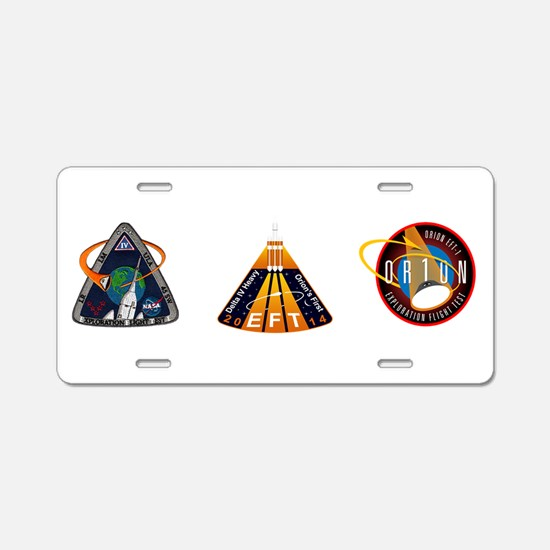EFT-1 Launch Team Aluminum License Plate