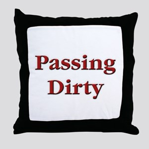 Passing Dirty Euchre Throw Pillow