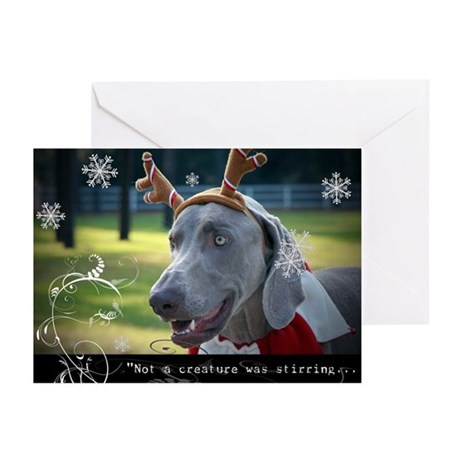 10 Pack-Weimaraner Holiday Quotation Cards Greetin