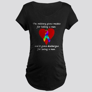 Gay Military Maternity Dark T-Shirt