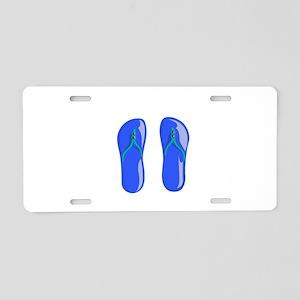 blue beaded strap sandals graphic Aluminum License