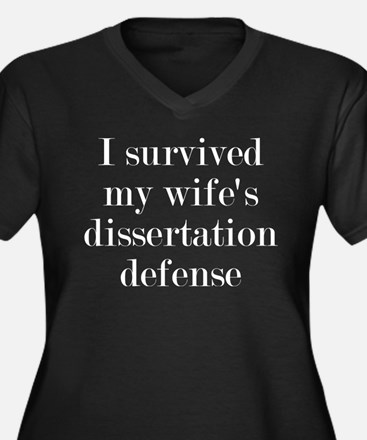 I Survived M Women's Plus Size V-Neck Dark T-Shirt