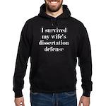 I Survived My Wife's Dissertation Hoodie (dark)