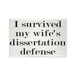 I Survived My Wife's Di Rectangle Magnet (10 pack)