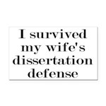 I Survived My Wife's Disserta Rectangle Car Magnet