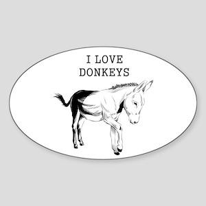 I Love Donkeys Sticker