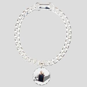 WineGlassesMenuSign05311 Charm Bracelet, One Charm