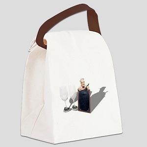WineGlassesMenuSign053110shadows. Canvas Lunch Bag