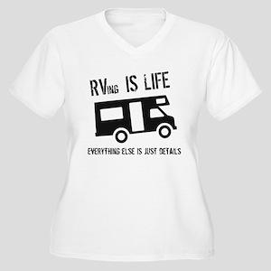 RVing is Life Women's Plus Size V-Neck T-Shirt