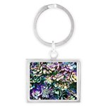 Colorful Abstract Plants Keychains