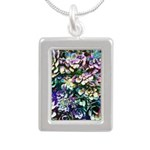 Colorful Abstract Plants Necklaces