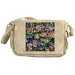Colorful Abstract Plants Messenger Bag