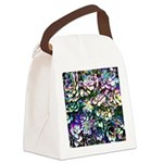 Colorful Abstract Plants Canvas Lunch Bag
