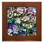 Colorful Abstract Plants Framed Tile