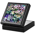Colorful Abstract Plants Keepsake Box
