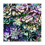 Colorful Abstract Plants Tile Coaster