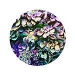 Colorful Abstract Plants Button
